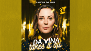 Sandra da Vina - Portrait für Event-Cover - mit Gold