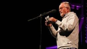 Eberhard Kleinschmidt beim Weststadtstory Poetry Slam - Event-Cover Workshop