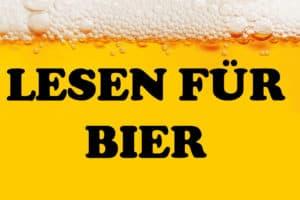 Lesen für Bier in Essen - Titelbild Bier mit Schaum