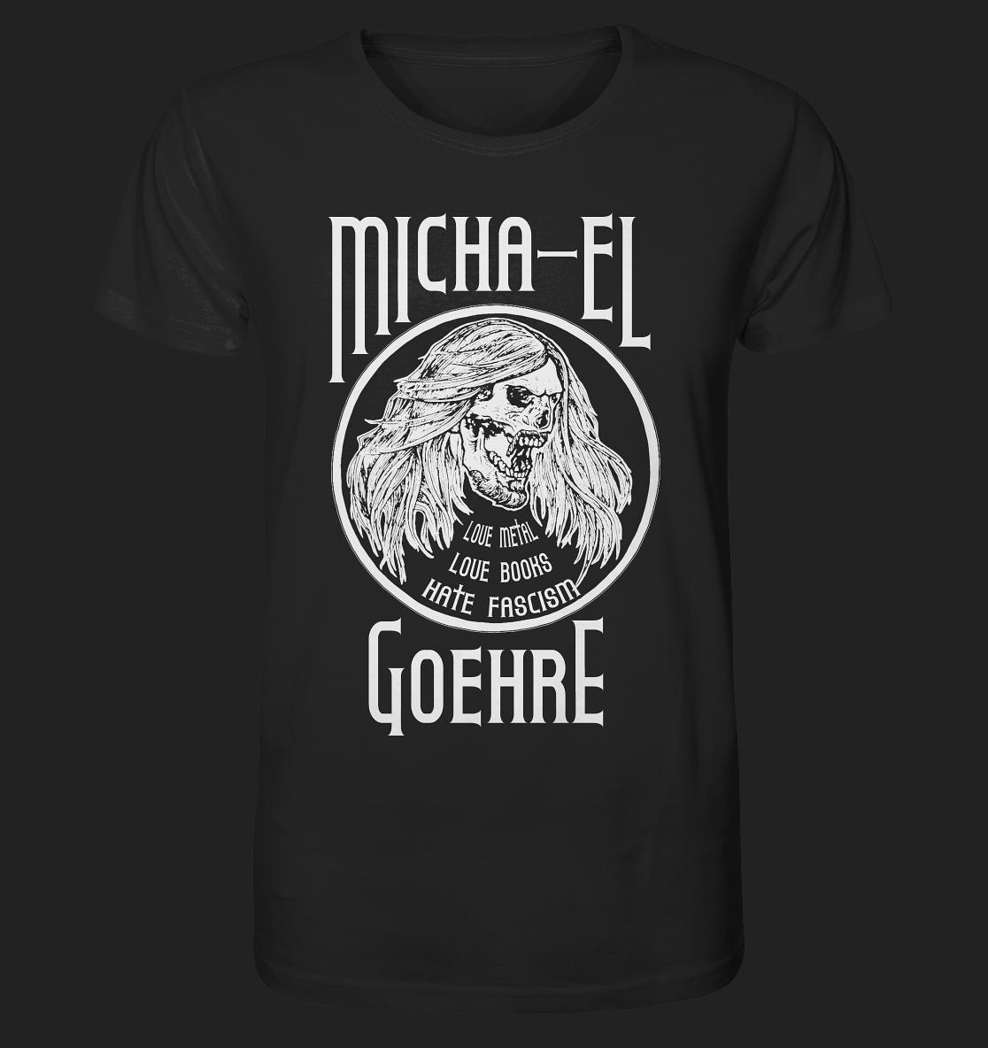 Fan-T-Shirt Micha-El Goehre - Schädel mit Schrift