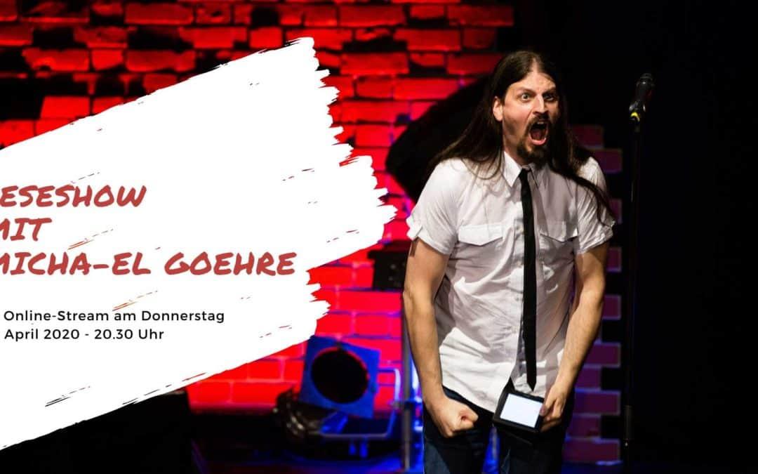 Poetry Slammer Micha-El Goehre - Titelbild Leseshow im Stream