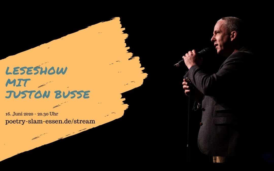 Poetry Slammer Juston Buße im Titelbild zur Online-Leseshow kleines Bild